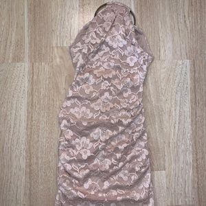 Cache Plush Pink Lace Dress size 2